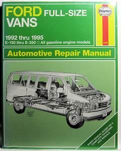 Ford Vans Automotive Repair Manual 1992
