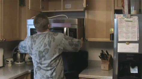 microwave installation youtube