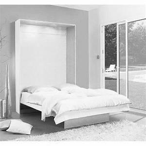 Armoire Lit Pas Cher : lit mural escamotable pas cher meuble de salon contemporain ~ Nature-et-papiers.com Idées de Décoration