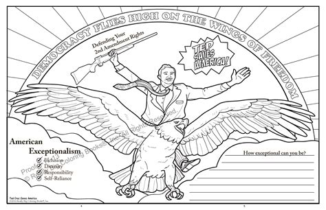 Ted Cruz Saves America Released by ColoringBook com Back