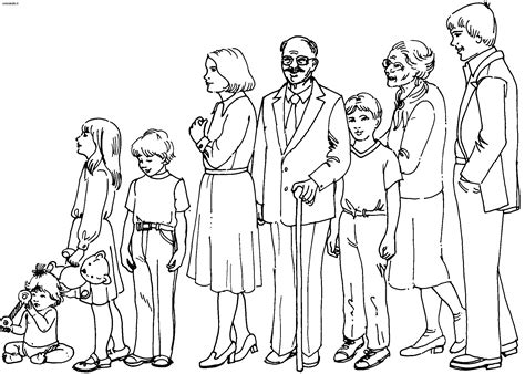 family  characters printable coloring pages
