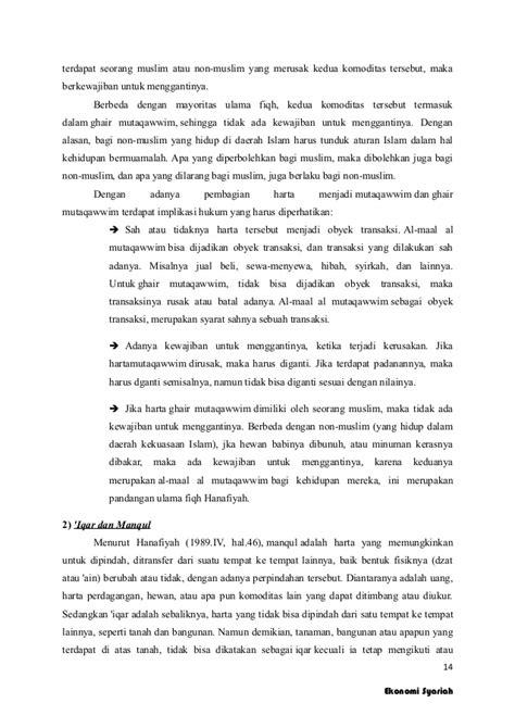 Ekonomi syariah konsep harta dan kepemilikan dalam islam
