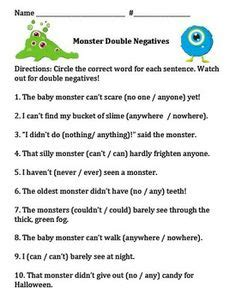 1000+ Images About Double Negatives On Pinterest  Double Negative, Grammar And A Sentence