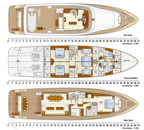 Yacht Plans by Alpha One Yacht Layout Aegean Yacht Motor