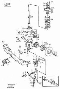 Volvo 940 Se Member  Axle  B280  Spring Support  Top