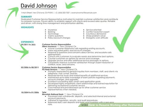 Resumes For Retirees by How To Resume Working After Retirement With Pictures