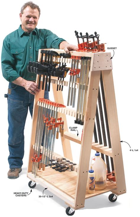 Norm's got a work table and rolling clamp rack to show us this time. Mobile Clamp Rack - Popular Woodworking Magazine