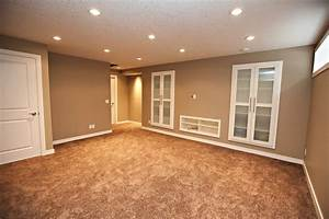 large basement space with minimalist themed using grey With what kind of paint to use on kitchen cabinets for basement wall art