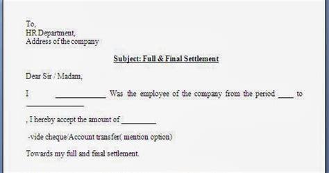 full  final settlement acceptance letter