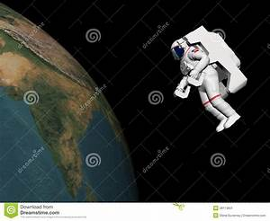 Astronaut Looking At The Earth - 3D Render Stock Image ...