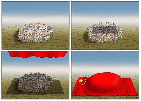 cartoon democracy protests  hong kong sampsonia  magazine