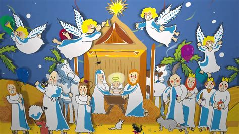 christmas baby jesus party for kids animation