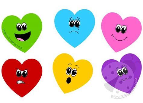 le emozioni dei cuori da colorare lavoretti creativi