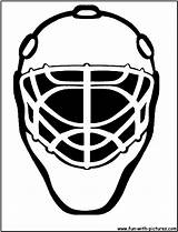 Mask Hockey Template Coloring Goalie Templates sketch template