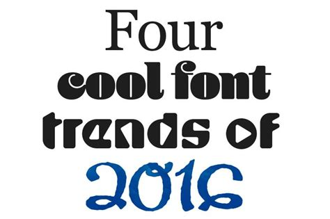 font trends    print designs stand