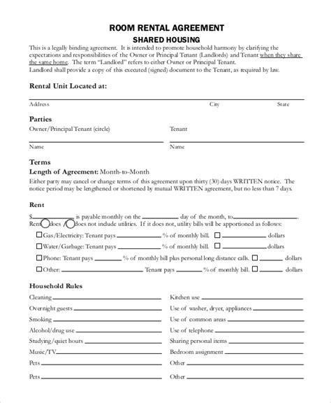 basic lease agreement template 8 basic rental agreement sles sle templates