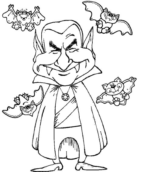 vampire coloring pages    print