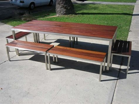 los angeles custom made modern steel and wood outdoor