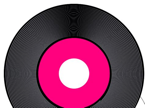 Record Clipart Pink Record Clip Vector Clip Royalty