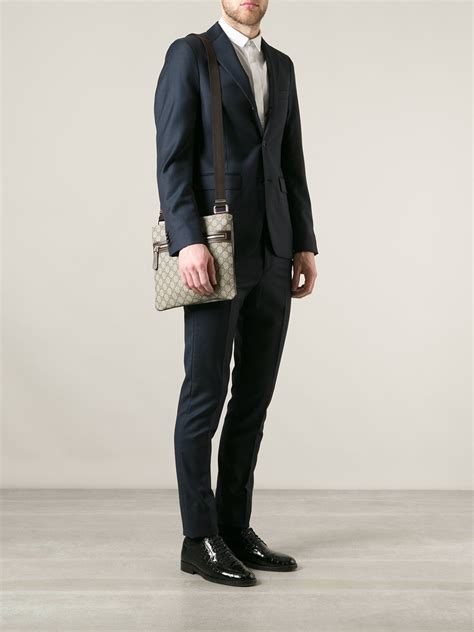 lyst gucci monogram crossbody bag  men