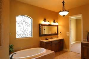 modish bathroom paint colors with tan tile and wrought