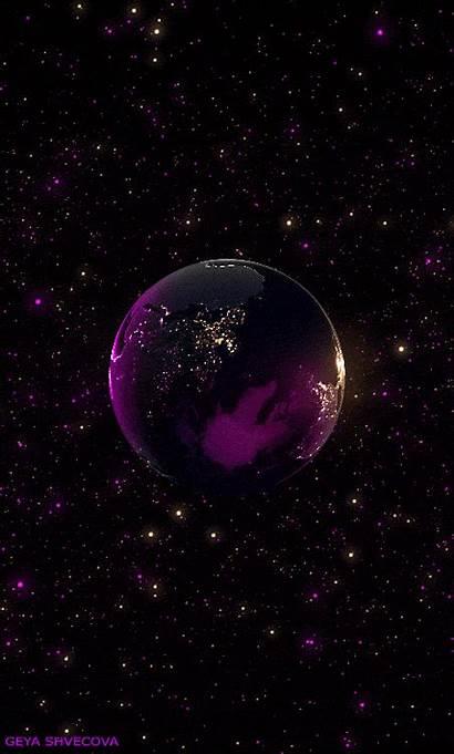 Galaxy Purple Aesthetic Graphics Huawei Planets Earth