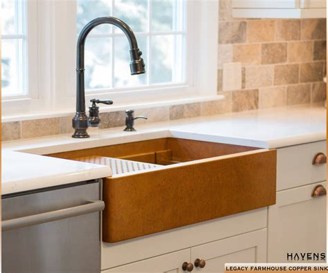 copper farm sinks for kitchens legacy copper farmhouse sink drop in bowl havens metal 8335