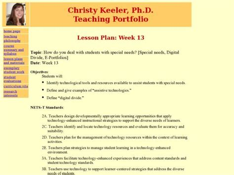 Lesson Plans For Students With Disabilities. Lesson Plan