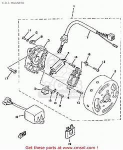 Yamaha Qt50 2g 1980  1981 Usa C D I  Magneto