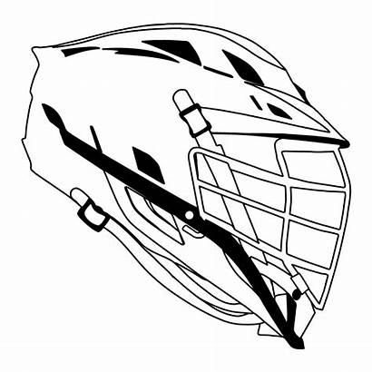 Lacrosse Helmet Clipart Drawing Cliff Coloring Sketch