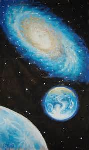 Galaxy Planet Earth Drawing