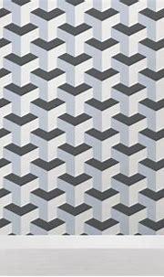 Grey Abstract Cube 3D Wallpaper   Murals Wallpaper