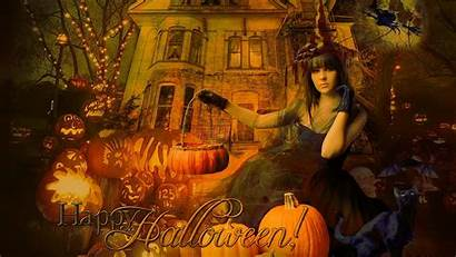 Halloween Witch Gothic Wallpapers Happy Desktop Fall