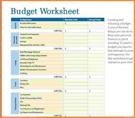 simple budget spreadsheet budget template for excel
