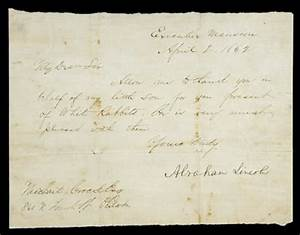abraham lincoln 39white rabbits39 letter is worth following With abraham lincoln letter for sale