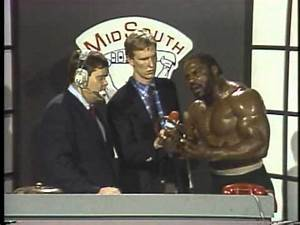 Mid-South Wrestling - Dutch Mantell & Tom Pritchard whip ...  Mid