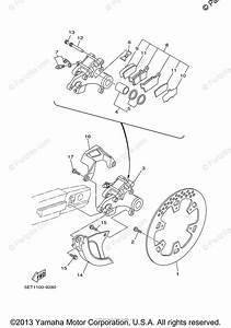 Yamaha Motorcycle 2001 Oem Parts Diagram For Rear Brake