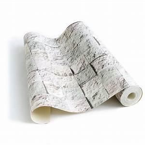 Papier Peint Pierre Blanche : papier peint damier de pierre blanche ~ Dailycaller-alerts.com Idées de Décoration