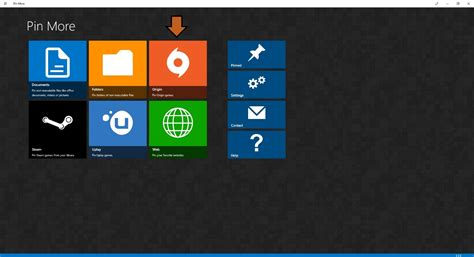origin windows 10 how to create custom tiles for windows 10 with pin more and snowy dune launcher gamecrate