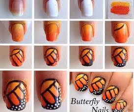 Butterfly nail art for beginners : Creative butterfly nail art designs london beep