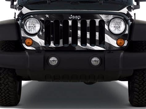 jeep grill decal jeep grill inserts american flag go4carz com