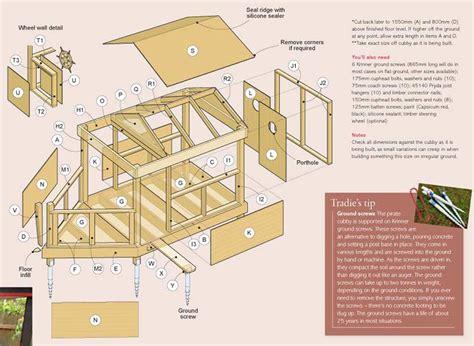wooden cubby house plans    build wood kids cubby house plans warehousemold