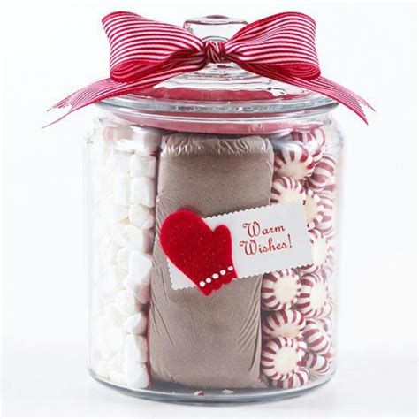 hot chocolate jar gifts favors pinterest