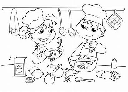 Coloring Cooking Pages Baking Printable Bakery Cookies