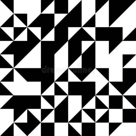 Abstract Geometric Shapes Black And White by Triangle Geometric Shapes Pattern Black And White Stock