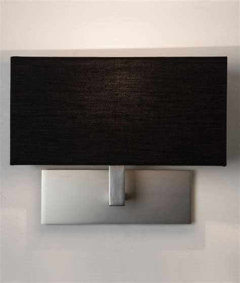 stylish wall light with fabric shade in three finishes