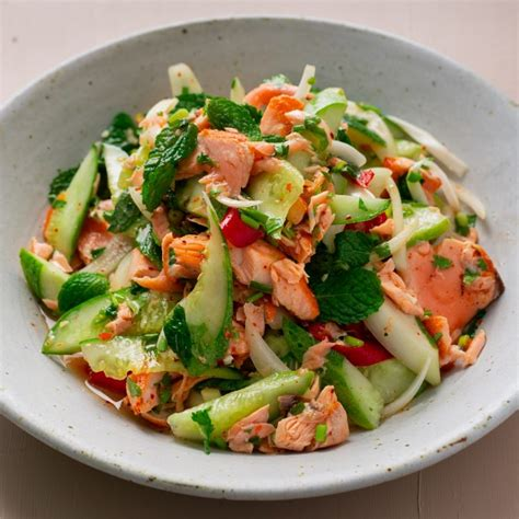 thai style salmon salad marions kitchen