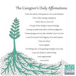 Caregivers Daily Affirmations