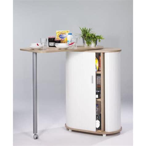 table cuisine cdiscount table de cuisine et rangement chêne naturel achat