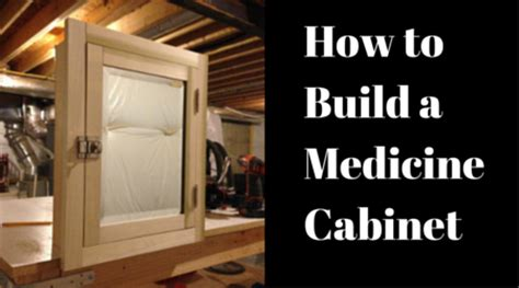 build a medicine cabinet our home from scratch